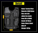 Black Military Tactical Hunting Vest With Holster