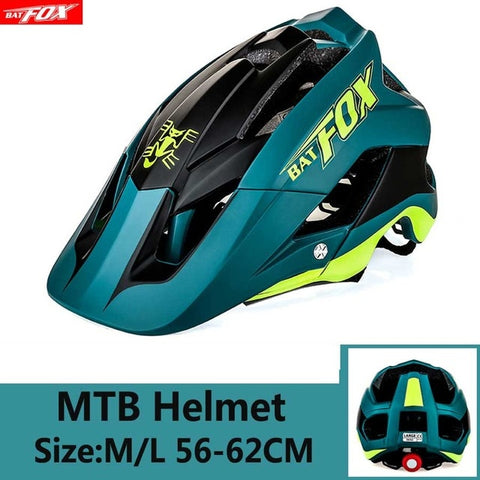 White and Green Cycling Road Mountain Bike Helmet