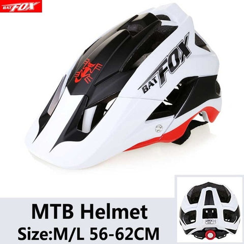 White and Black Cycling Road Mountain Bike Helmet