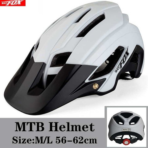 White and Black LOUR Cycling Road Mountain Bike Helmet