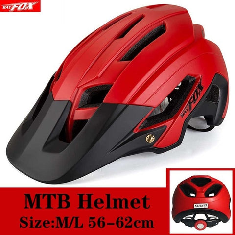 Red and Black Cycling Road Mountain Bike Helmet