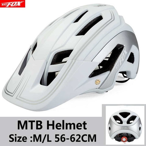 White Cycling Road Mountain Bike Helmet