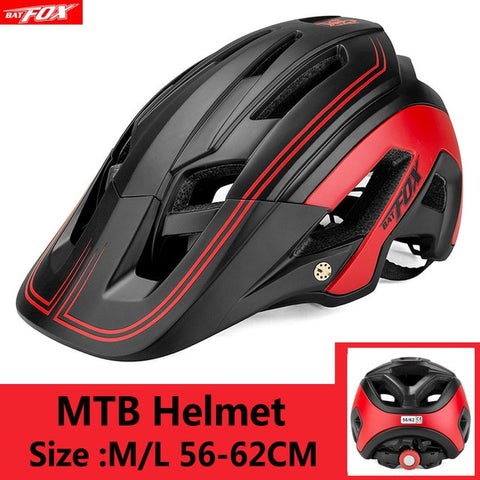 Black and Red Cycling Road Mountain Bike Helmet