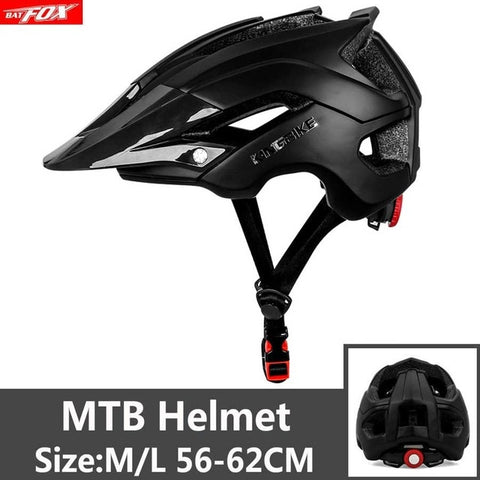 Black Mtb Cycling Road Mountain Bike Helmet