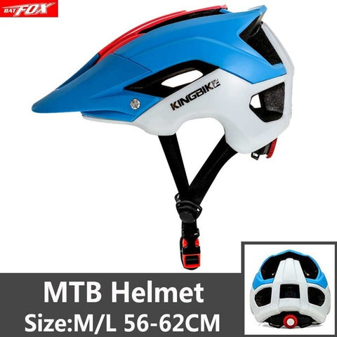 Red, Blue and White Cycling Road Mountain Bike Helmet