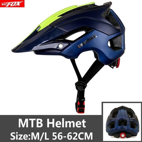 Yellow and Blue Cycling Road Mountain Bike Helmet