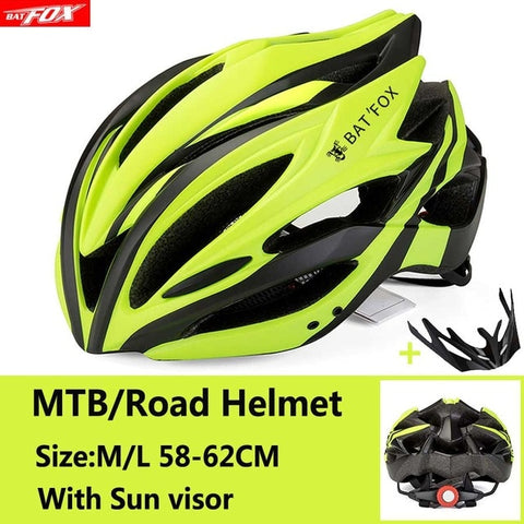 Black and Yellow Cycling Road Mountain Bike Helmet