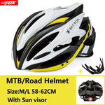 white and Yellow Cycling Road Mountain Bike Helmet
