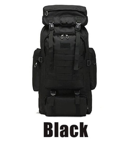 Black 80L Waterproof Molle Camo Tactical Outdoor hiking camping Backpack
