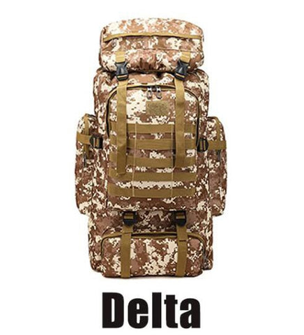 Delta 80L Waterproof Molle Camo Tactical Outdoor hiking camping Backpack
