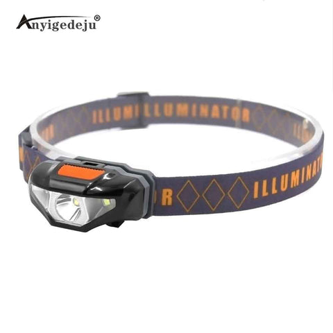 Mini Head Lamp 3 Modes Waterproof COB LED Flashlight Headlight Headlamp Torch