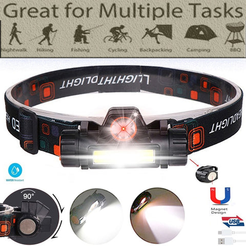 2 Led COB head lamp car inspect light Led head lamp - hiking Victorious Active