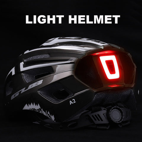Black Bicycle Helmet with LED Light