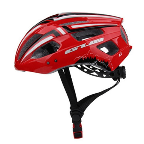 Red Bicycle Helmet with LED Light - cycling Victorious Active
