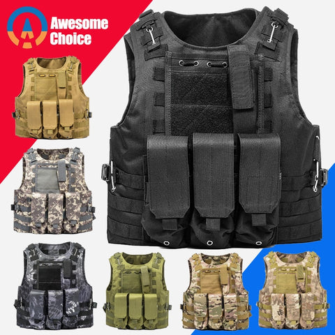 Tactical Vest for Airsoft Military- Outdoor Hunting Vest