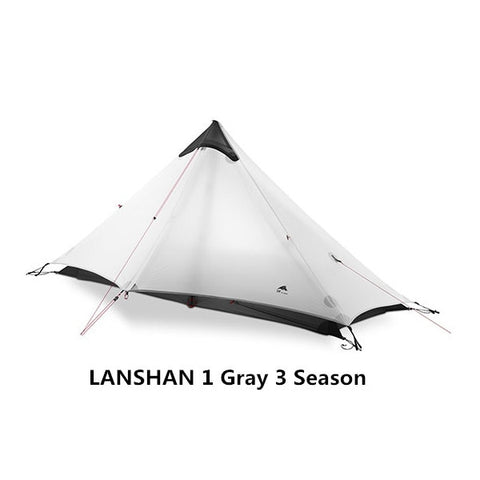 Gray 1 Person 3 Season Outdoor Ultralight Camping Rodless Tent