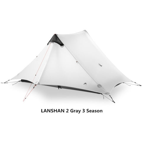 Gray 2 Person 3 Season Outdoor Ultralight Camping Rodless Tent