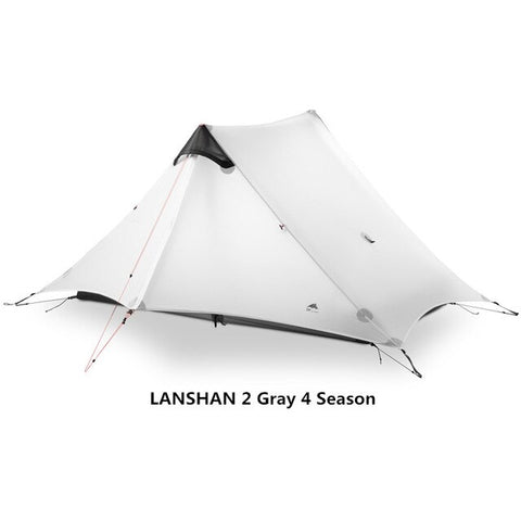 Gray 2 Person 4 Season Outdoor Ultralight Camping Rodless Tent