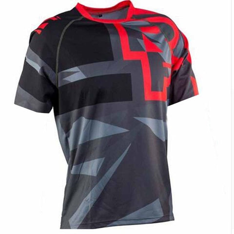 Red and Grey T-Shirt RACE FACE Mountain Bike / off road MTB Jersey - cycling Victorious Active