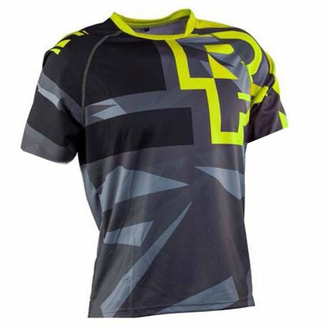 Lime and Grey T-Shirt RACE FACE Mountain Bike / off road MTB Jersey - cycling Victorious Active