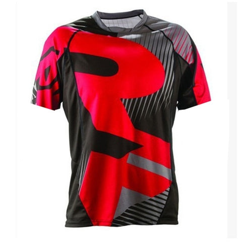 Red and Black RACE FACE Mountain Bike / off road MTB Jersey