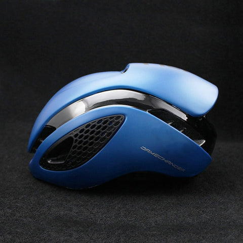 Blue and Black 300g Aero TT Bike Helmet