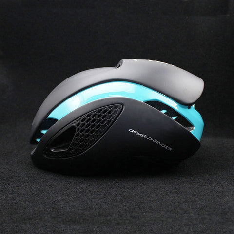 Nlack and Cyan 300g Aero TT Bike Helmet