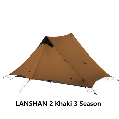 Khaki 2 Person 3 Season Outdoor Ultralight Camping Rodless Tent