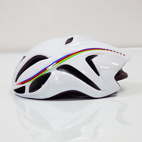 White with Stripes ULTRALIGHT EPS CYCLING HELMET FOR ROAD AND MTB MOUNTAIN BIKE CYCLING