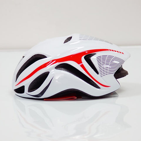 White and Red ULTRALIGHT EPS CYCLING HELMET FOR ROAD AND MTB MOUNTAIN BIKE CYCLING - cycling