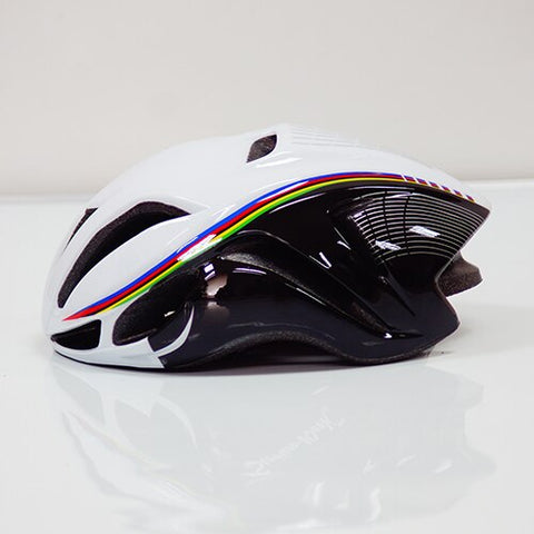 White with stripes ULTRALIGHT EPS CYCLING HELMET FOR ROAD AND MTB MOUNTAIN BIKE CYCLING - cycling