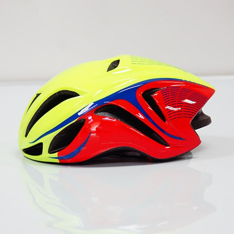Red and Yellow ULTRALIGHT EPS CYCLING HELMET FOR ROAD AND MTB MOUNTAIN BIKE CYCLING - cycling