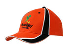Brushed Heavy Cotton Cap with Sandwich Trim and Fabric Inserts/Embroidery on Crown & Peak