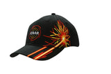 Brushed Heavy Cotton Cap with Firework Embroidery on Crown & Peak