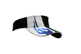 Brushed Heavy Cotton Visor with Sandwich Trim & Flame Embroidery on Crown & Peak