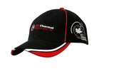 Brushed Heavy Cotton Cap with Crown Piping & Peak Trim/Embroidery