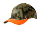 Leaf Camouflage Cap with Peak Indent & Piping