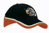Brushed Heavy Cotton Tri-Coloured Cap