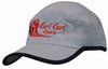 Microfibre Sports Cap with Trim on Edge of Crown & Peak