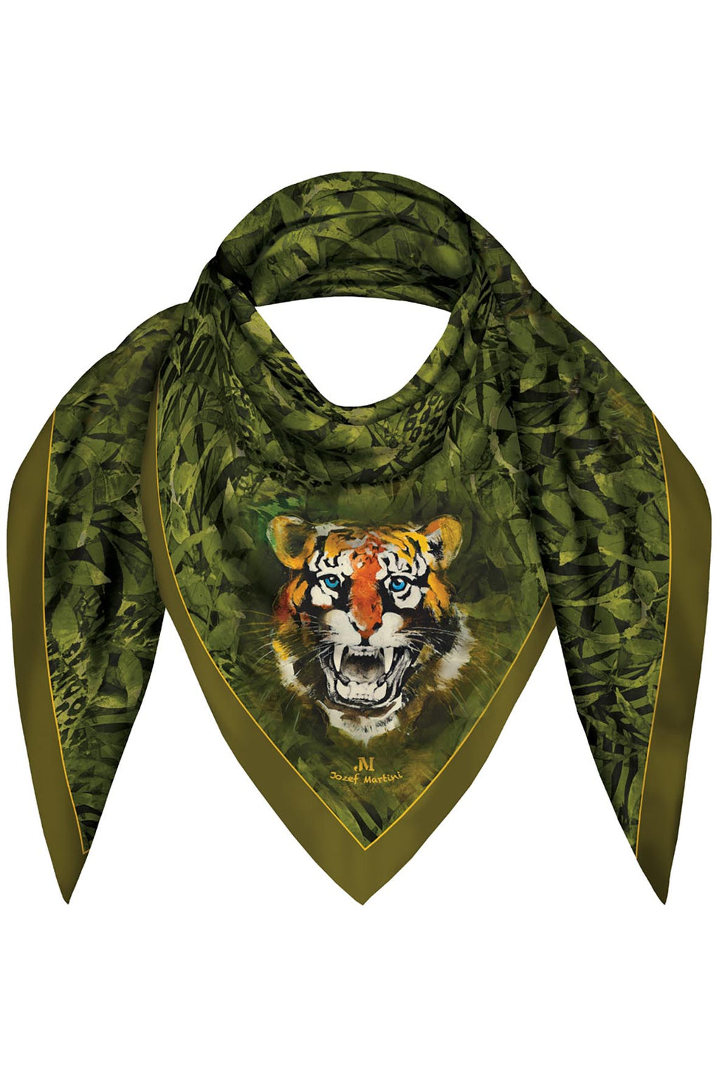 FOULARD 90 JUNGLE TIGER JM PRINT SILK