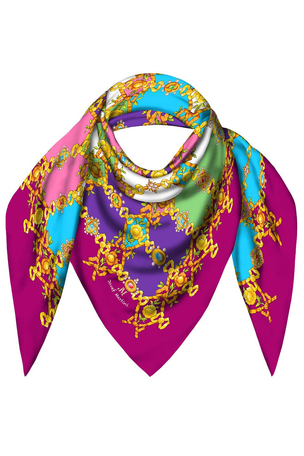 FOULARD 90 JEWELRY RIBBONS COLOURED JM PRINT SILK