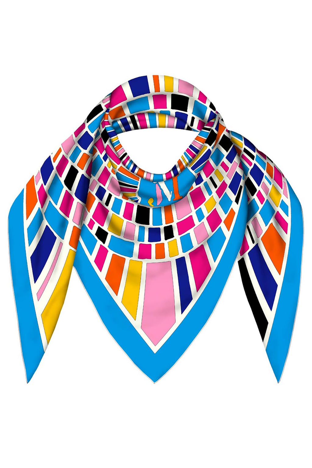 FOULARD 90 STAINED GLASS JM PRINT SILK