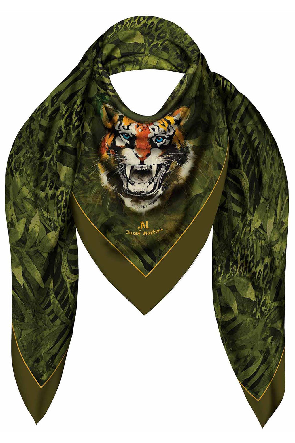 SQUARE 140 JUNGLE TIGER JM PRINT SILK