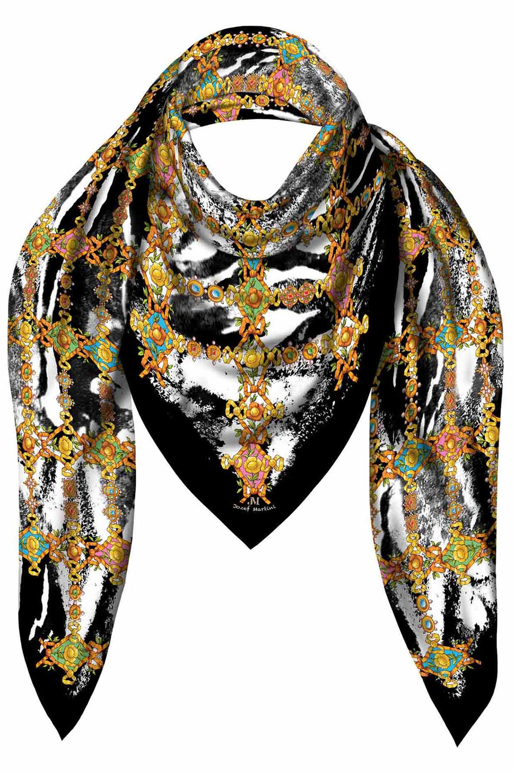 SQUARE 140 JEWELRY RIBBONS JM PRINT SILK