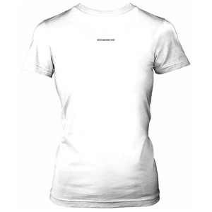 SIZE AWESOME Short-Sleeve Women's T-Shirt, White