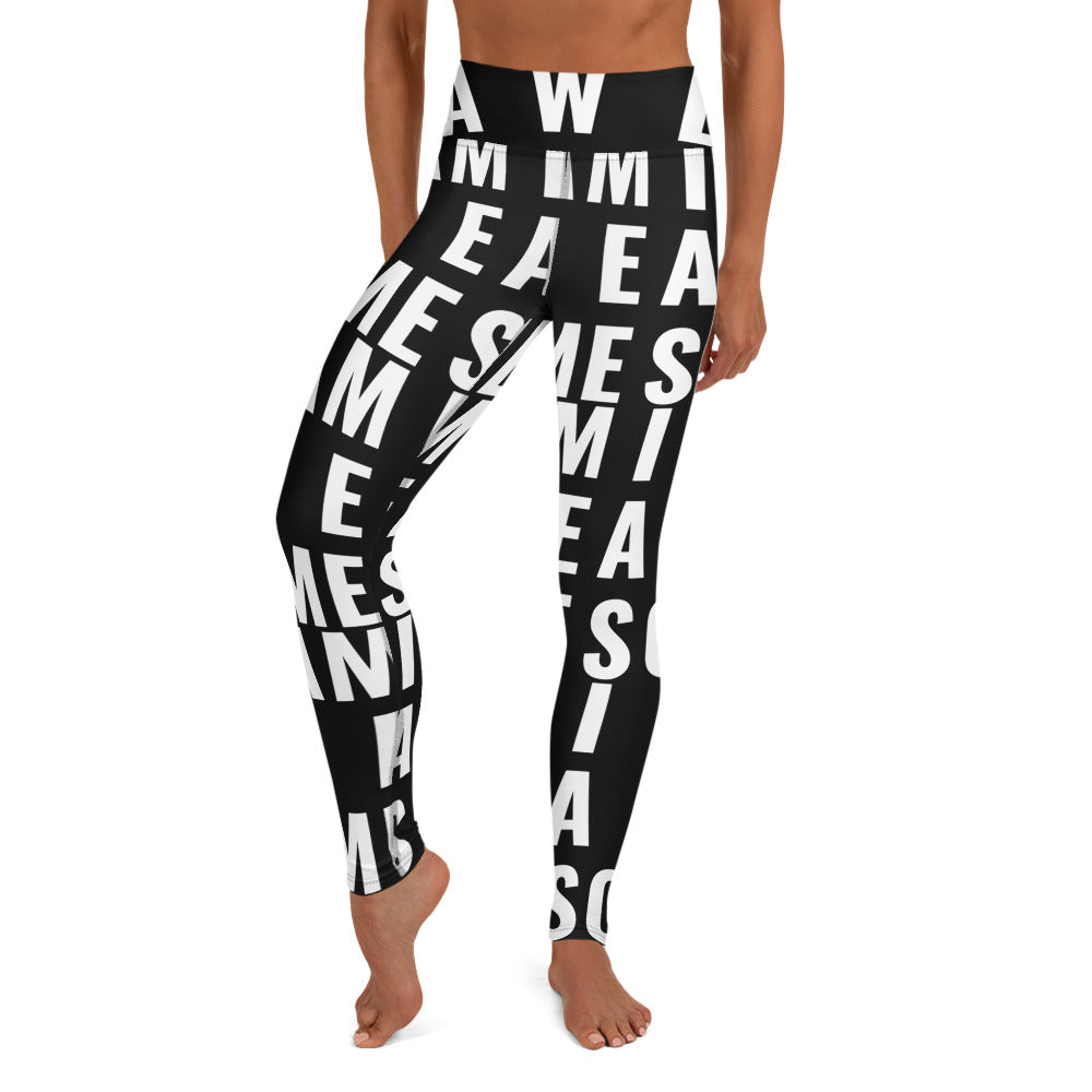 I AM AWESOME Yoga Leggings