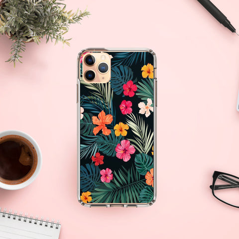 Floral on clear Phone cases for iphone 7 , 8 , SE , X , XR , 11 , Xr , 11 Pro , 11 Pro Max , Personalised case , Gift for her , Girlfriends