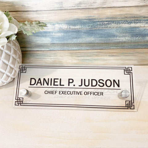 "Men Door name Personalized office door sign, gift for men, front door decor, door decor, business gift, custom text conference room (8""x3"")"