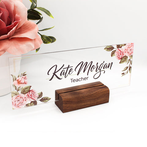 "Desk Name Plate, Name Sign, Personalized Name Sign, Office Decor, Office Name Plate, Teacher Name Plate, gift, Mother gift 8""x3"""