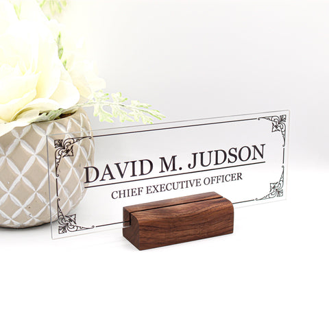 Desk Name Plate, Custom Name Sign, Personalized Desk Name, Customized Desk Name, Executive Personalized Desk Name Plate